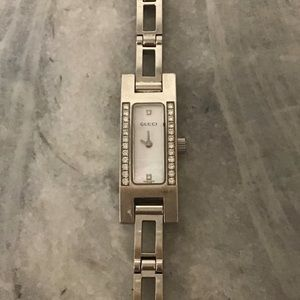 Gucci Diamond and Mother of Pearl Watch